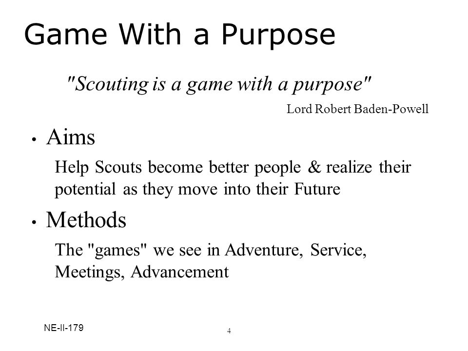 Scouting is a game with a purpose