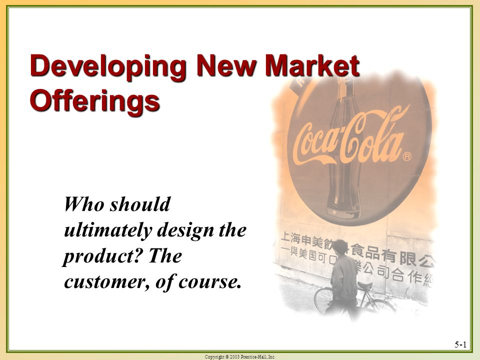 Developing New Market Offerings