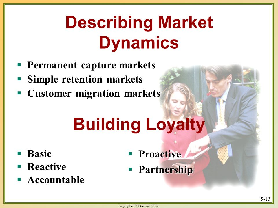 Describing Market Dynamics