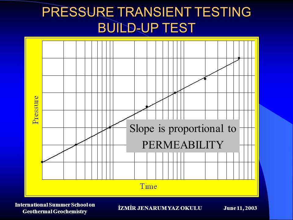 PRESSURE TRANSIENT TESTING BUILD-UP TEST