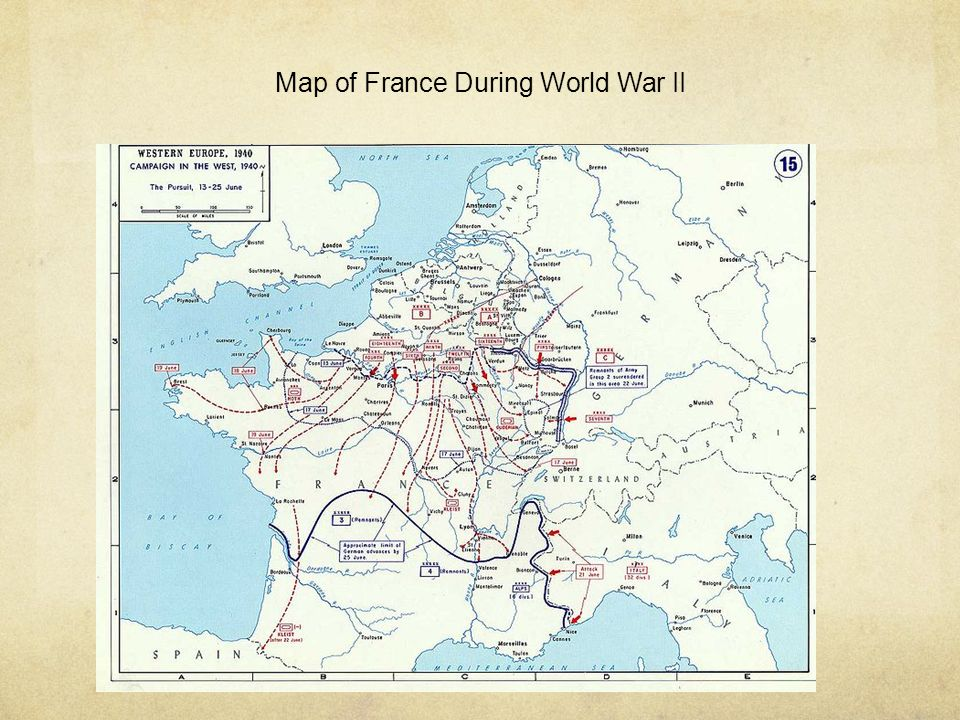 Map of France During World War II