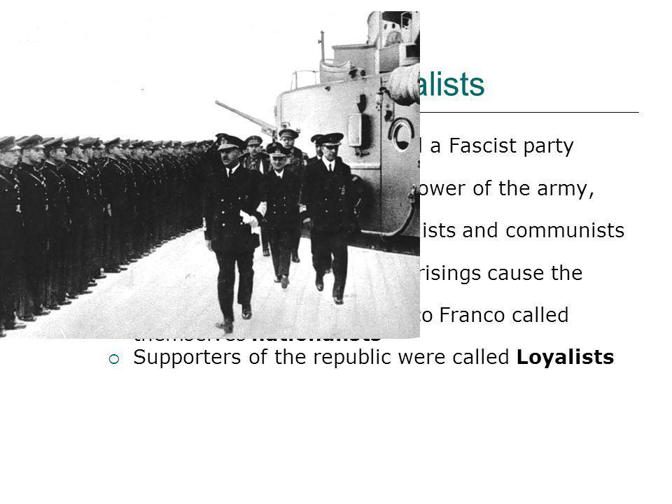 Nationalists and Loyalists