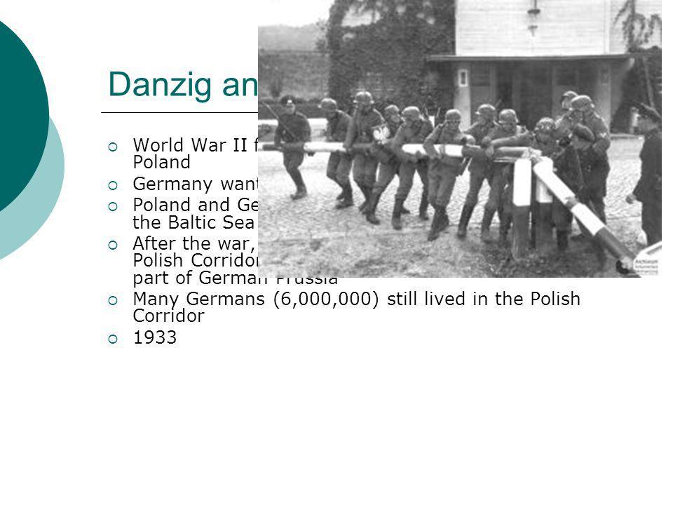 Danzig and the Polish Corridor