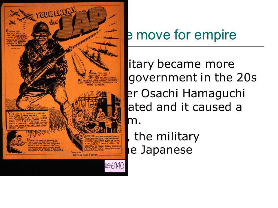 The Japanese move for empire