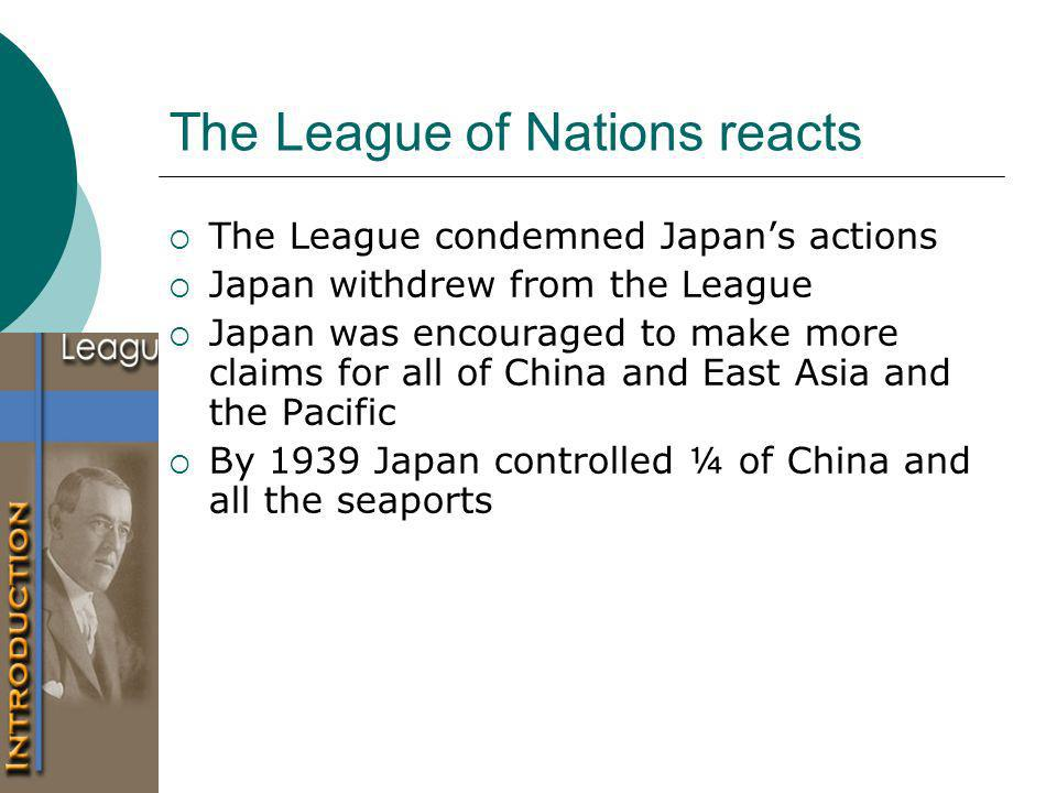 The League of Nations reacts
