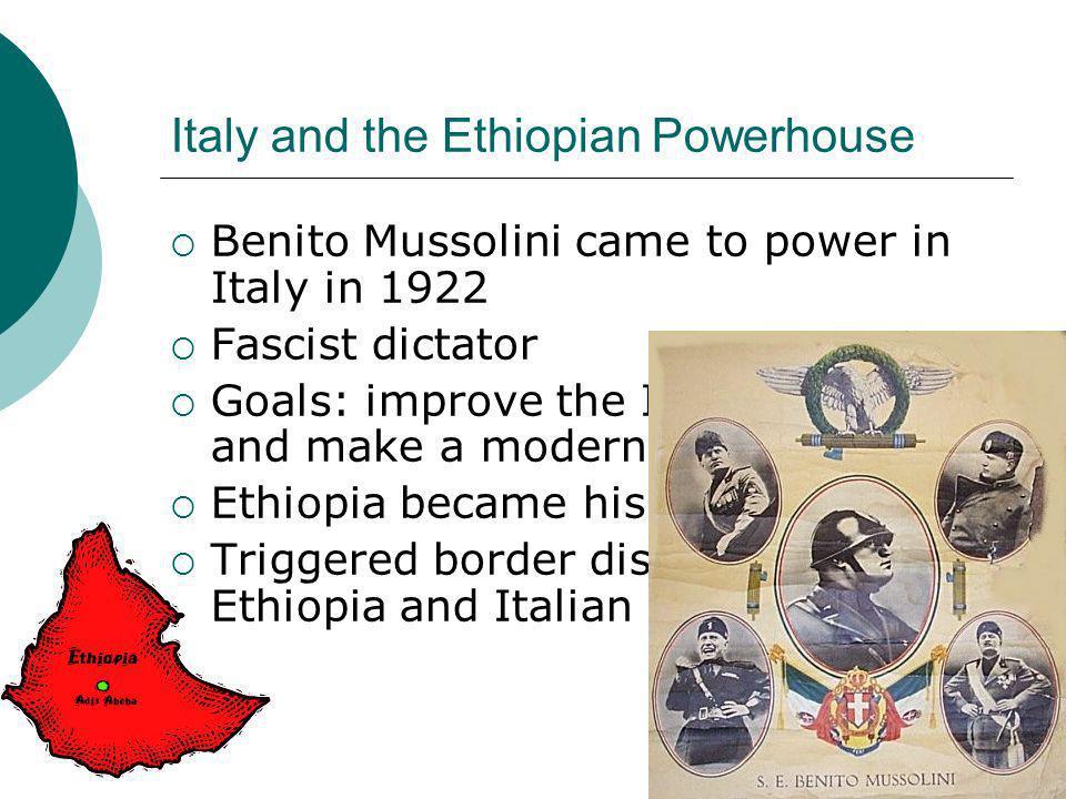 Italy and the Ethiopian Powerhouse