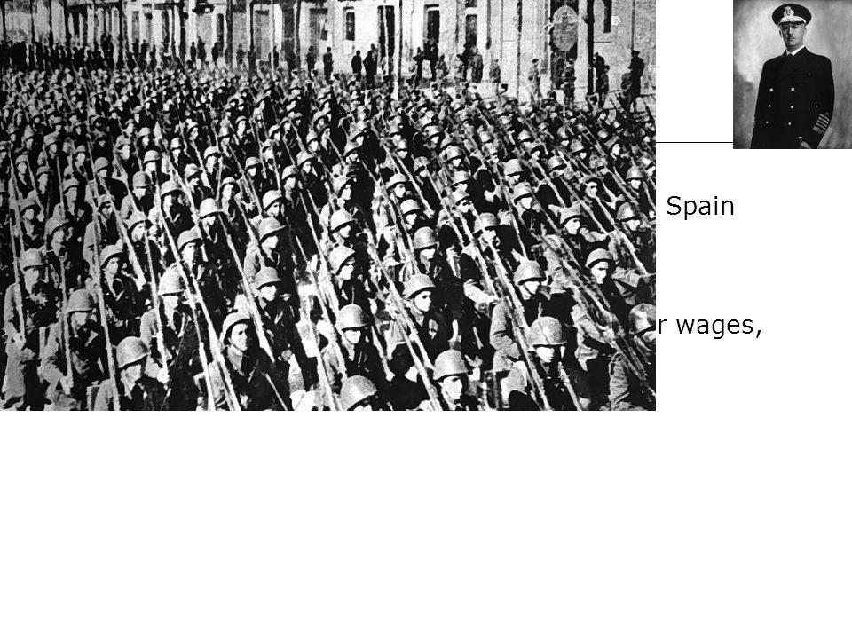 The Spanish Civil War After WWI, political instability affected Spain