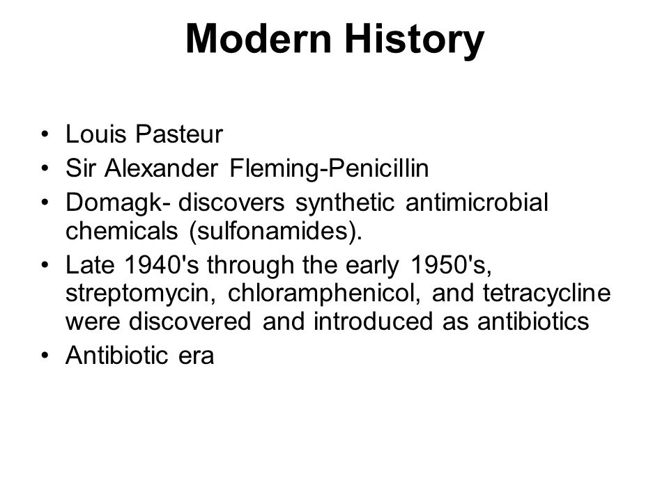 Modern History Louis Pasteur Sir Alexander Fleming-Penicillin