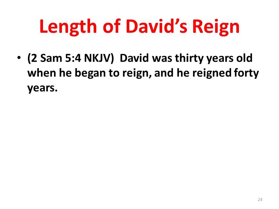 Length of David's Reign