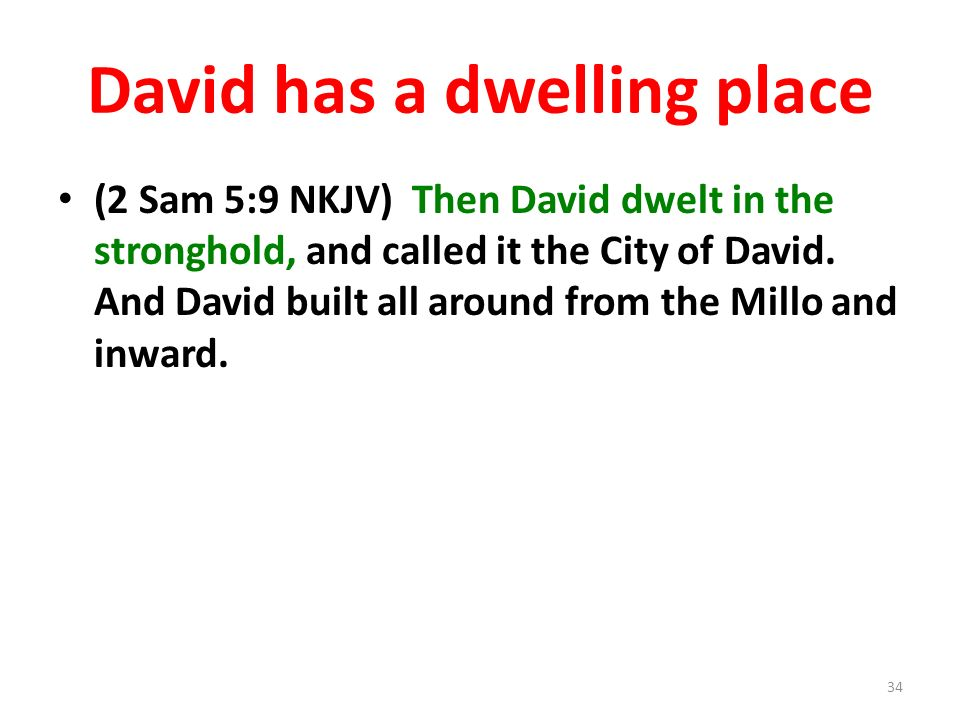 David has a dwelling place