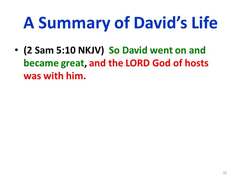 A Summary of David's Life