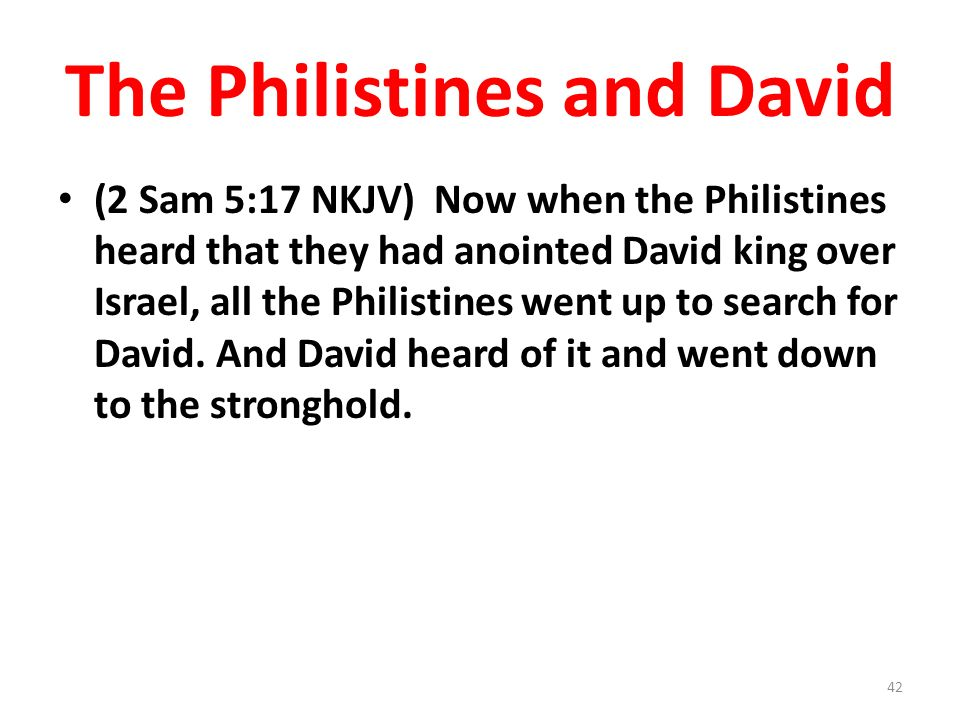 The Philistines and David