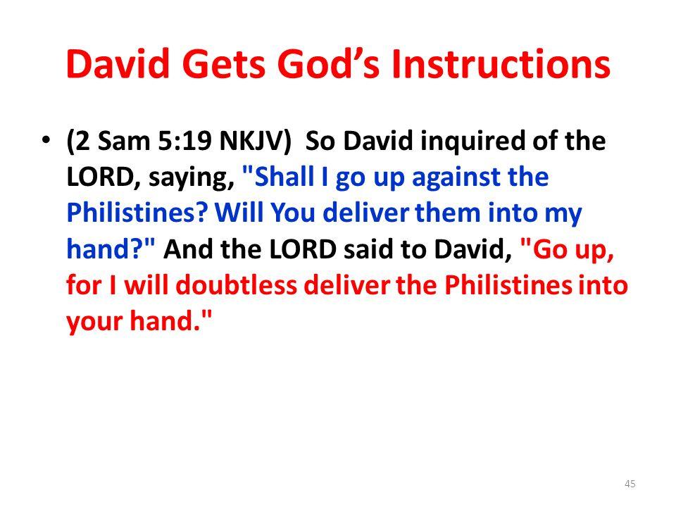 David Gets God's Instructions