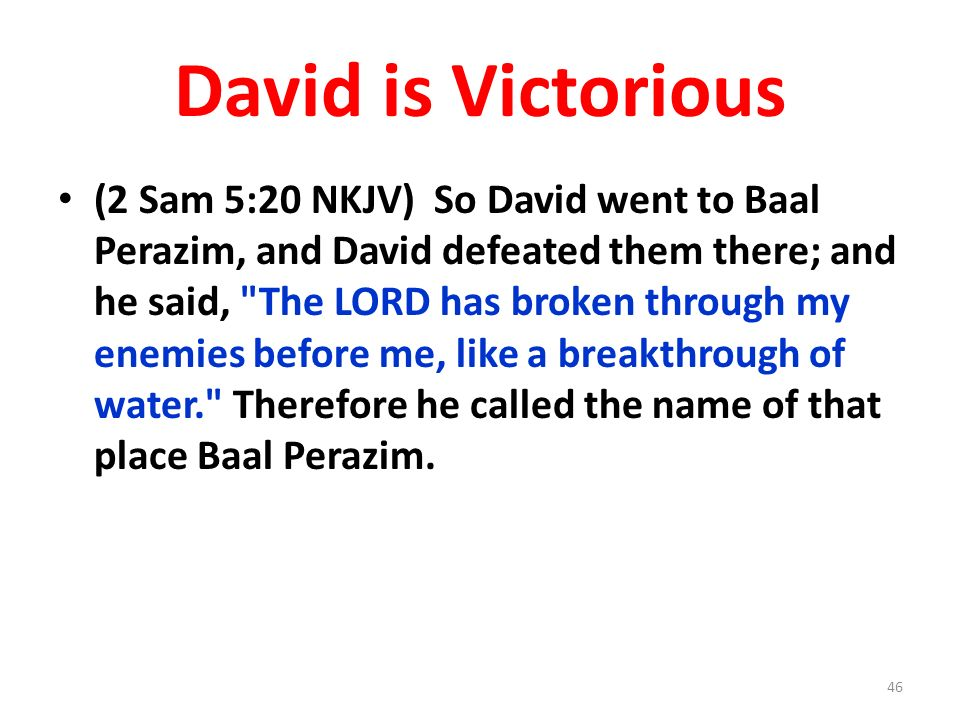 David is Victorious