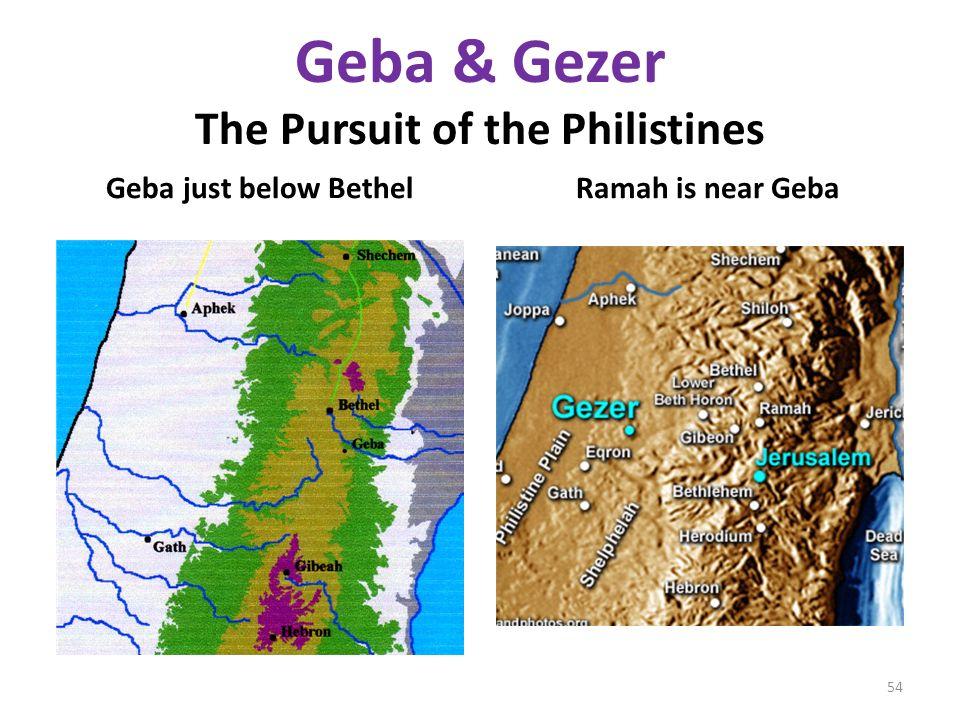 Geba & Gezer The Pursuit of the Philistines