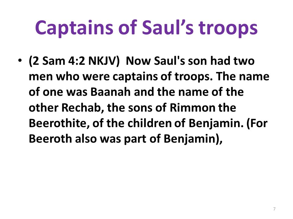 Captains of Saul's troops