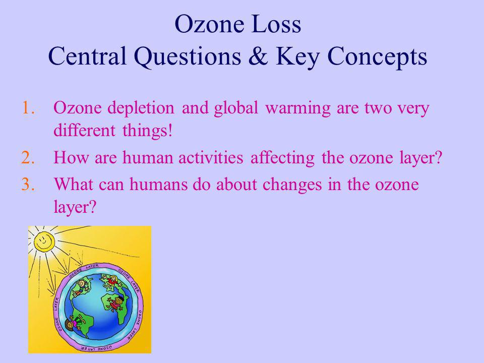 Ozone Loss Central Questions & Key Concepts