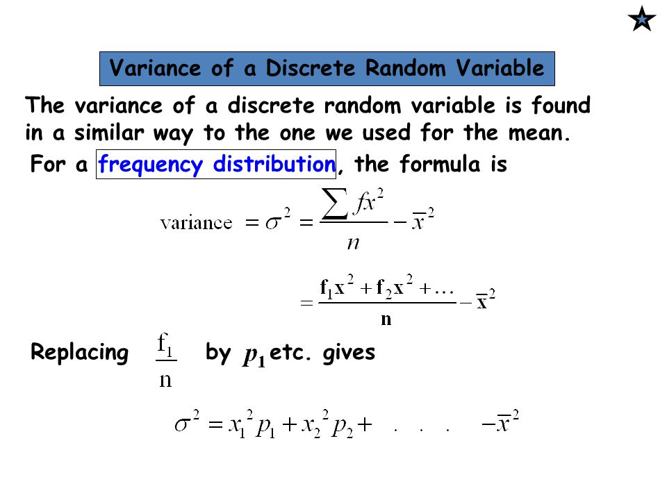 Variance of a Discrete Random Variable