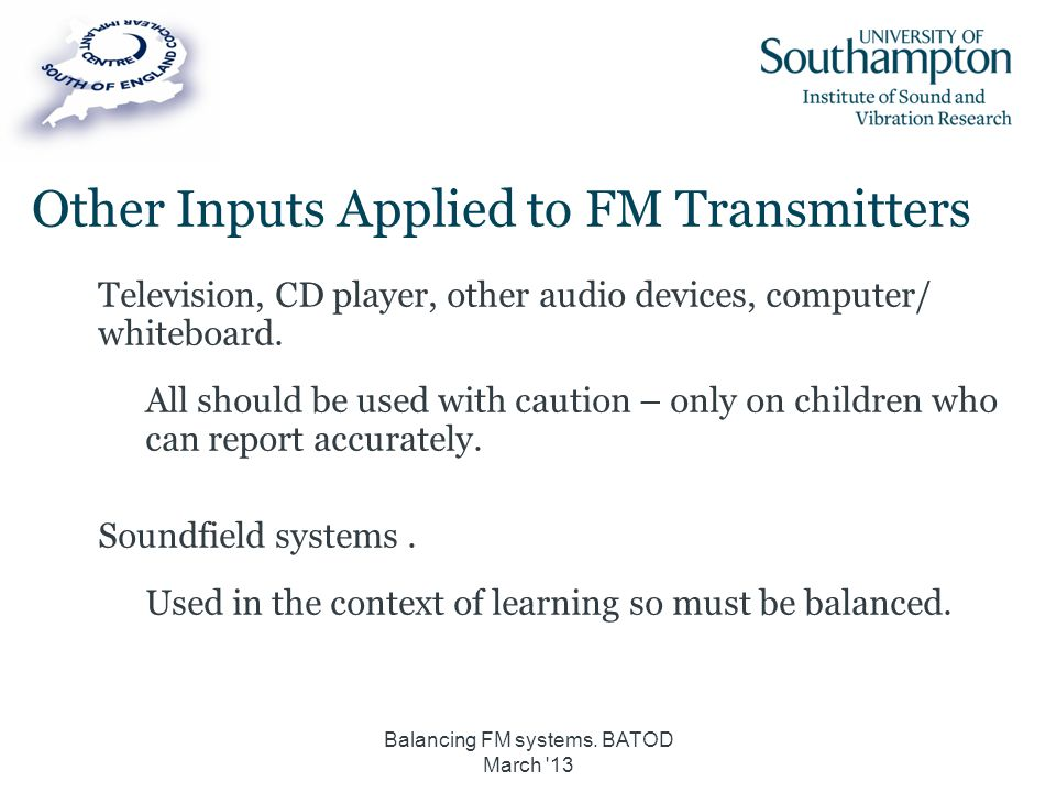 Other Inputs Applied to FM Transmitters