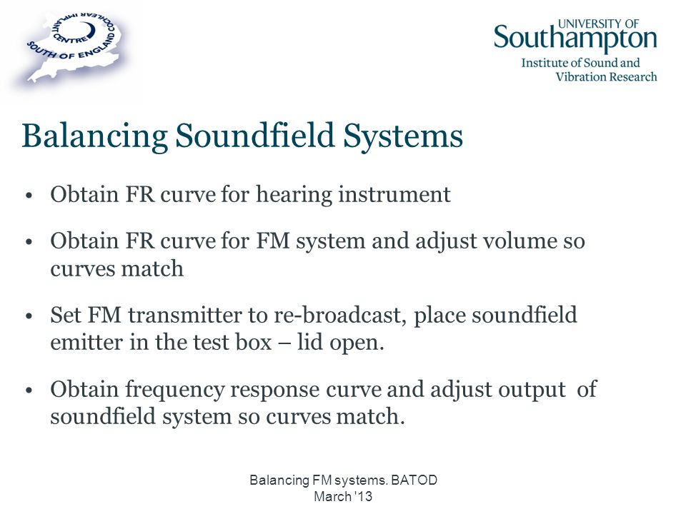 Balancing Soundfield Systems