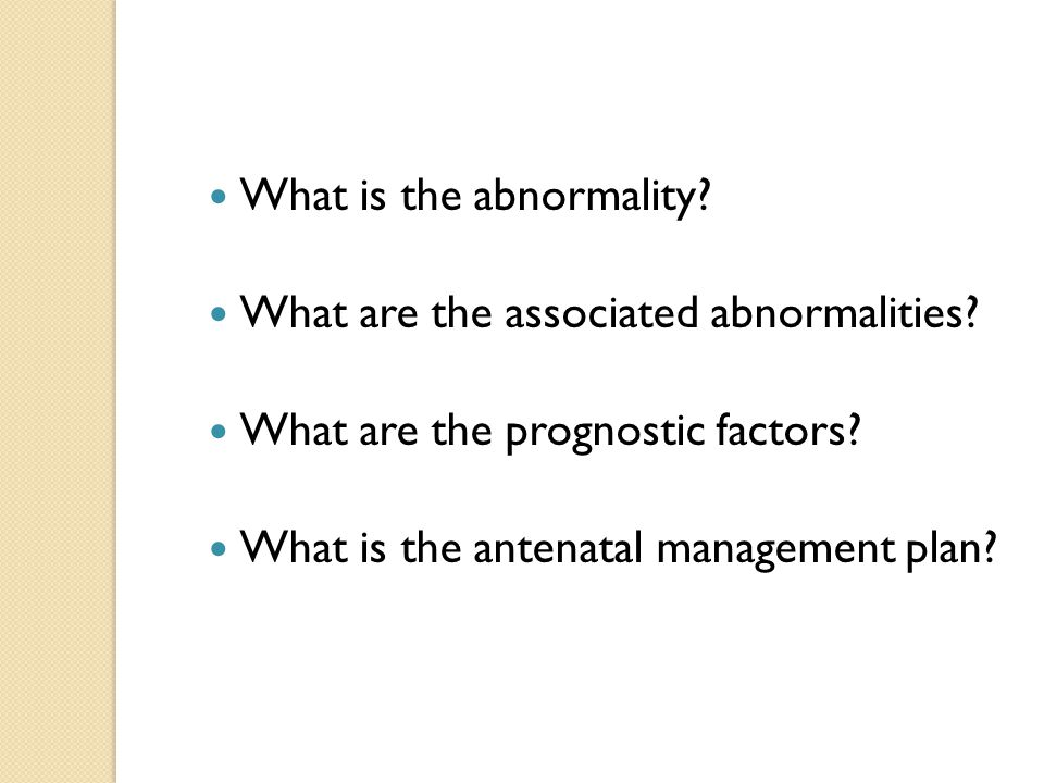 What is the abnormality