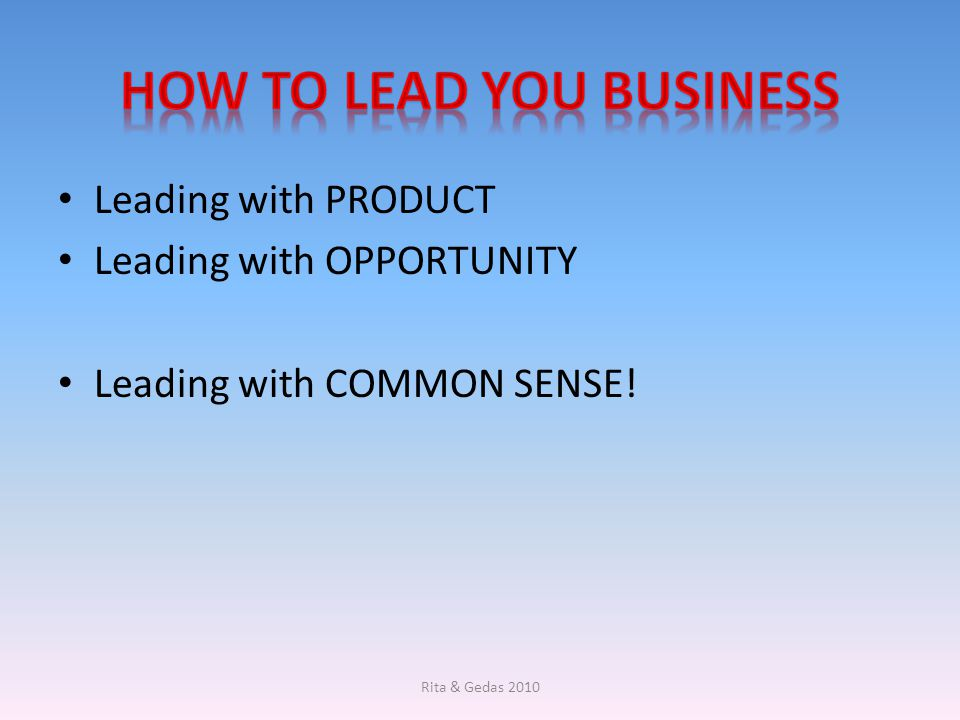 How to lead you business