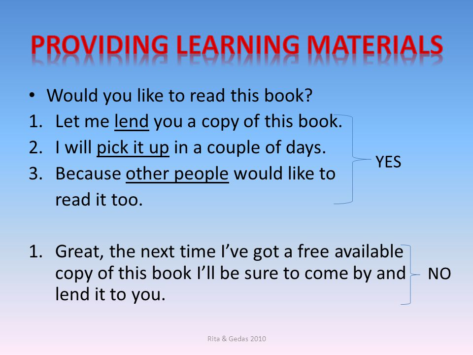 Providing Learning Materials