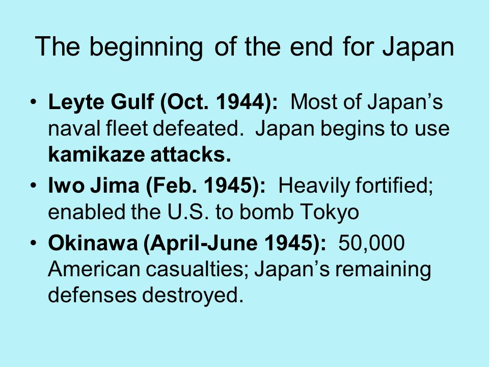 The beginning of the end for Japan
