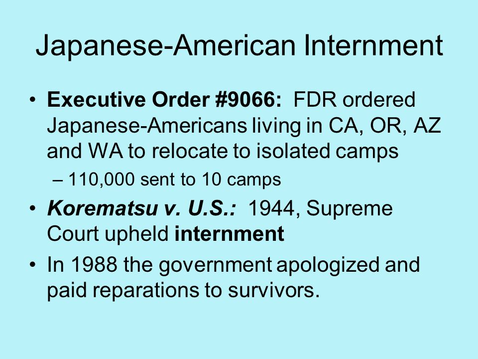 Japanese-American Internment