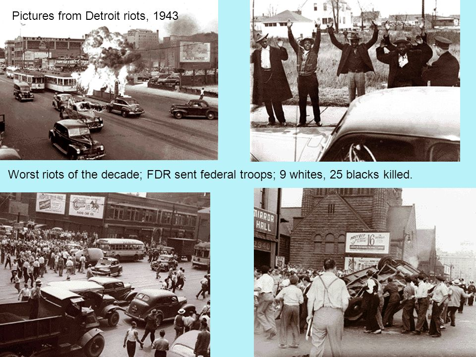 Pictures from Detroit riots, 1943
