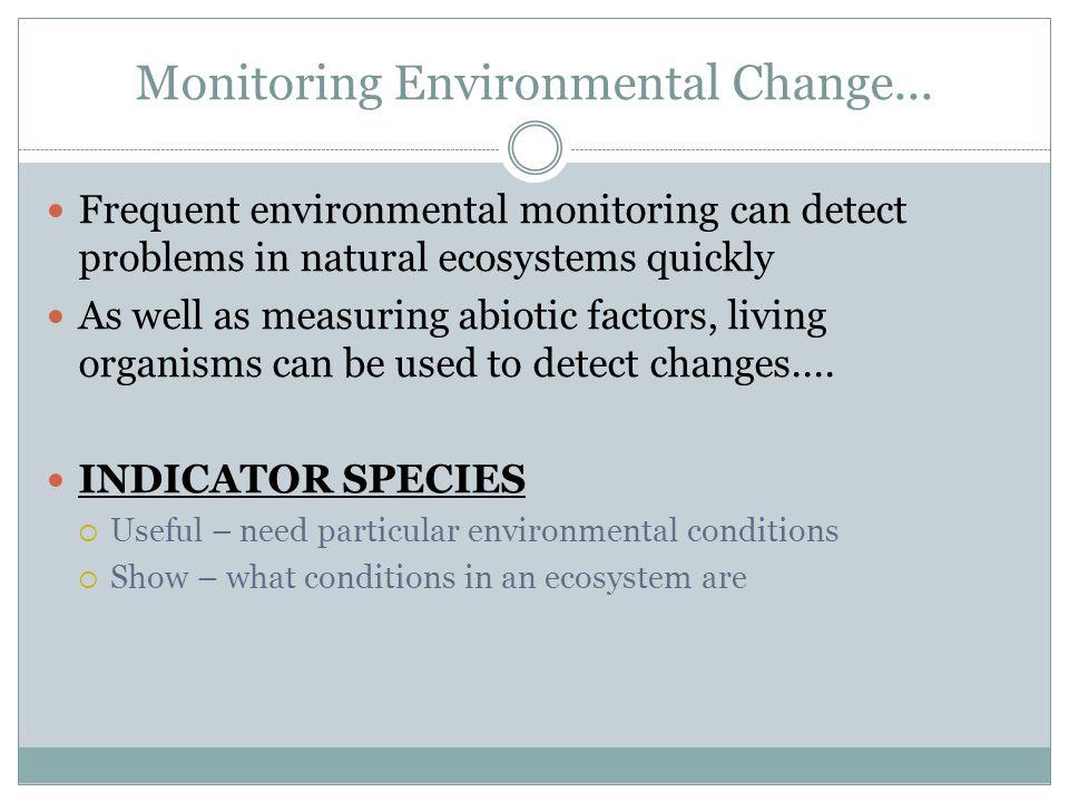 Monitoring Environmental Change...