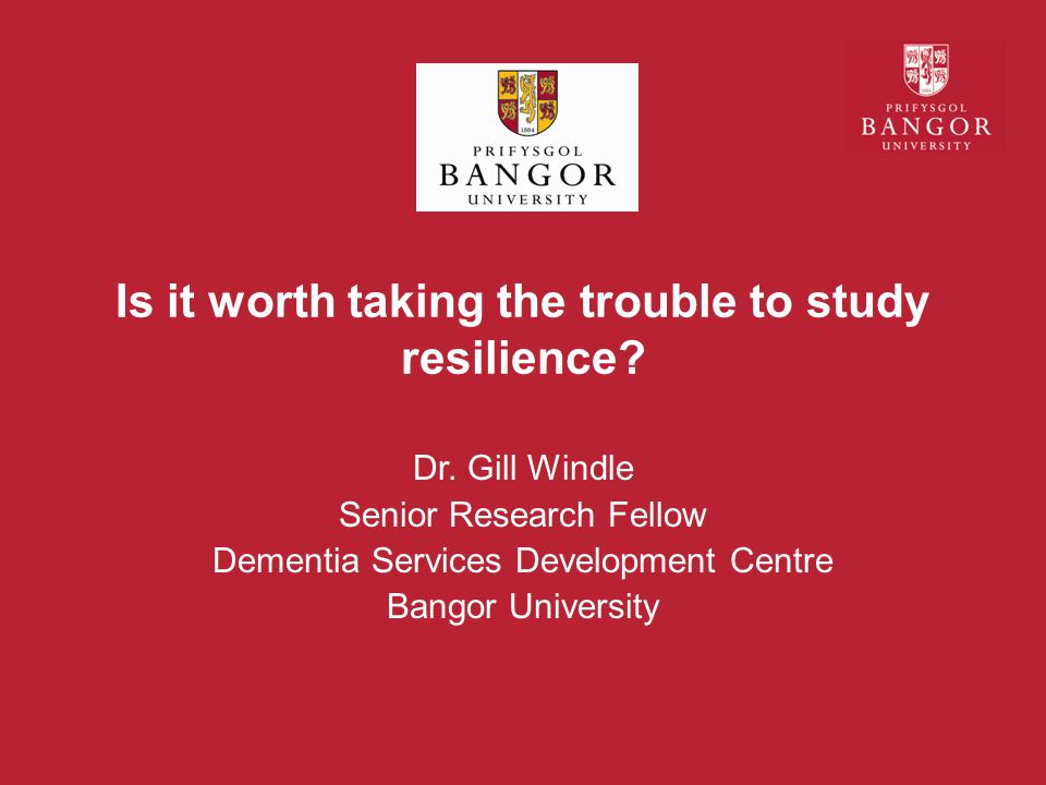 Is it worth taking the trouble to study resilience