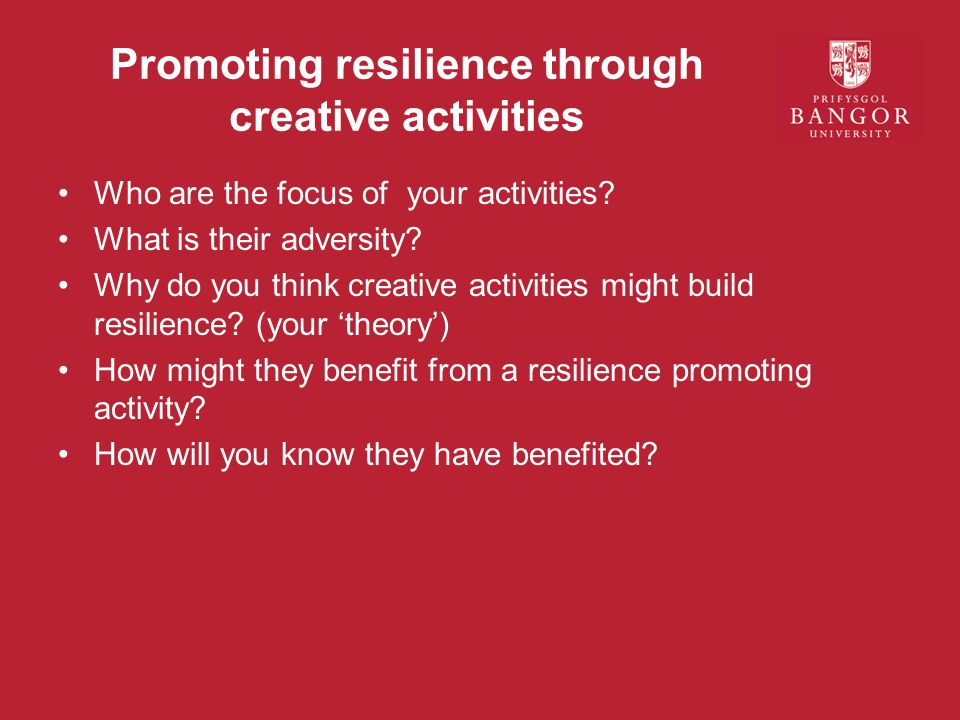Promoting resilience through creative activities