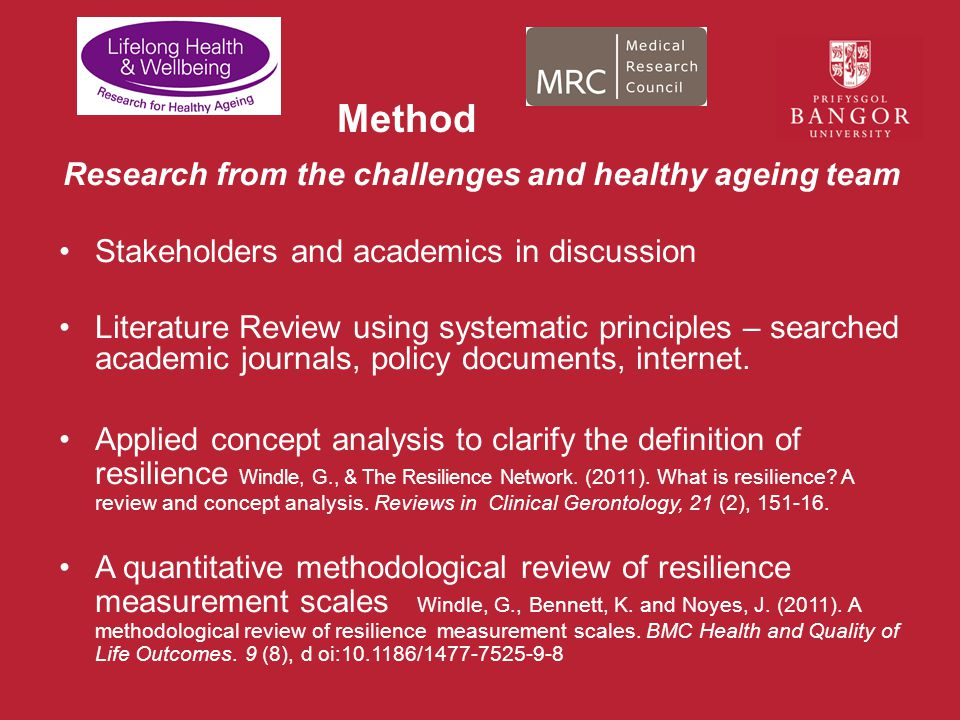 Research from the challenges and healthy ageing team
