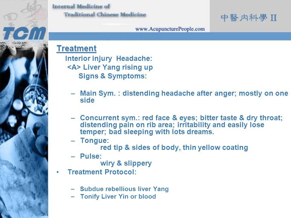 Interior injury Headache: