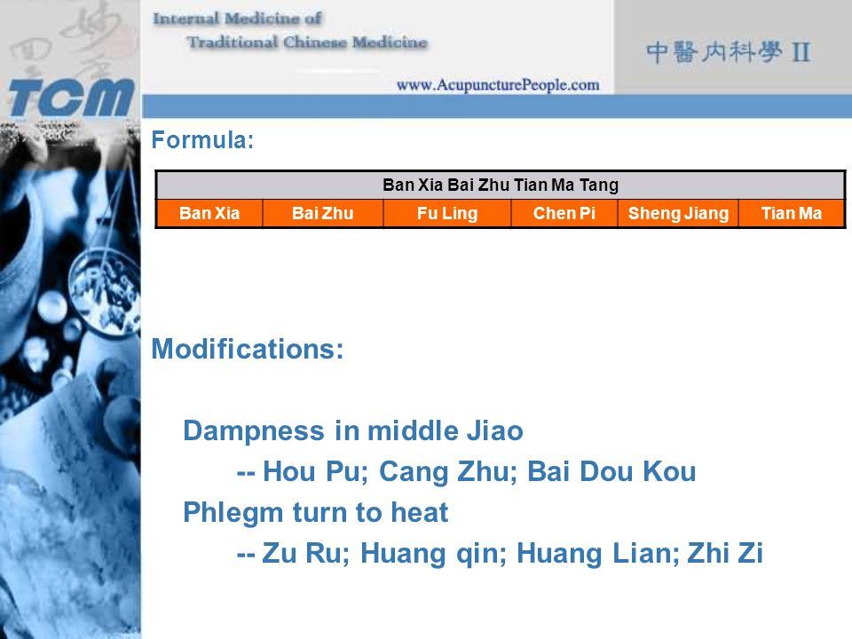Ban Xia Bai Zhu Tian Ma Tang