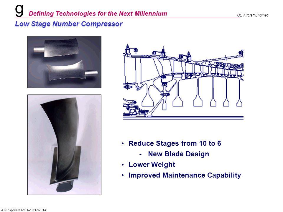 Low Stage Number Compressor