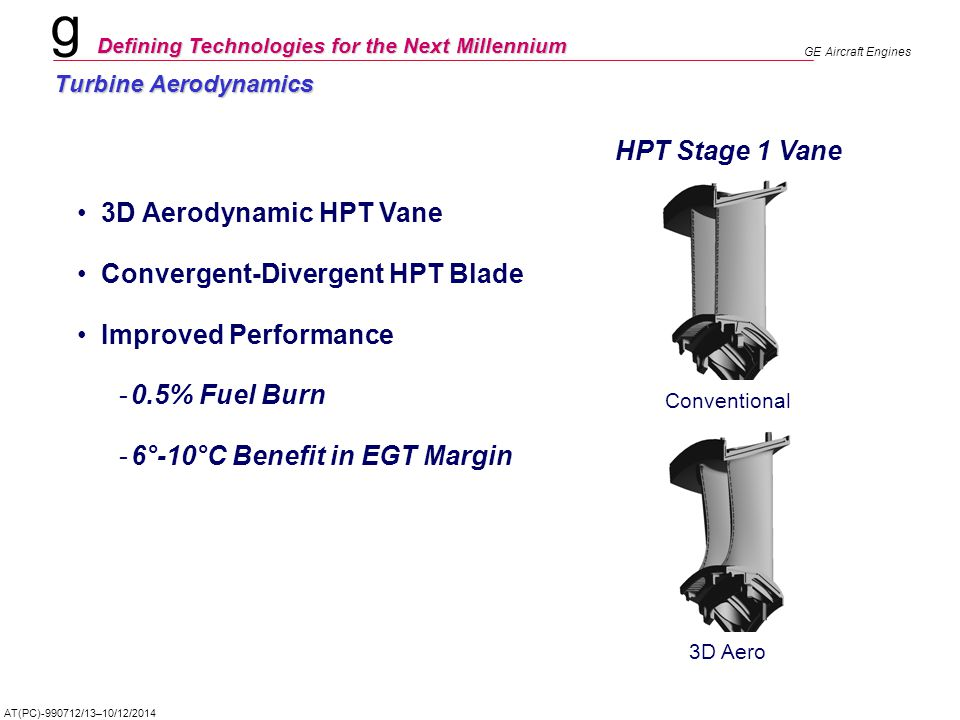 Convergent-Divergent HPT Blade Improved Performance 0.5% Fuel Burn
