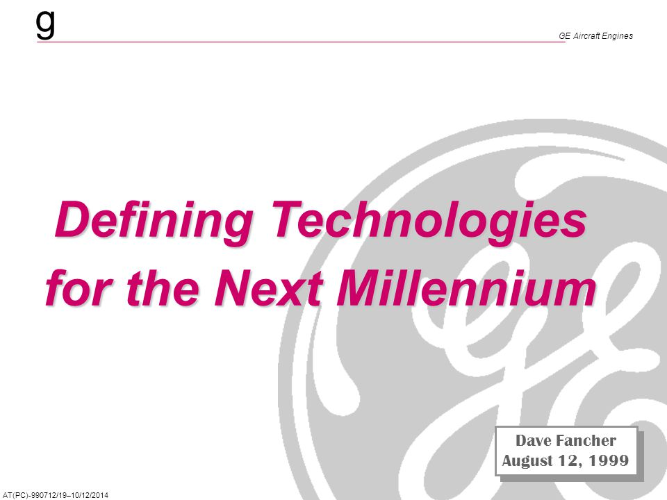 Defining Technologies for the Next Millennium