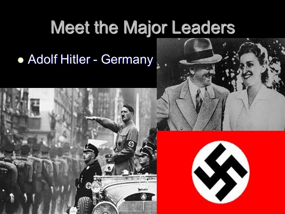 Meet the Major Leaders Adolf Hitler - Germany