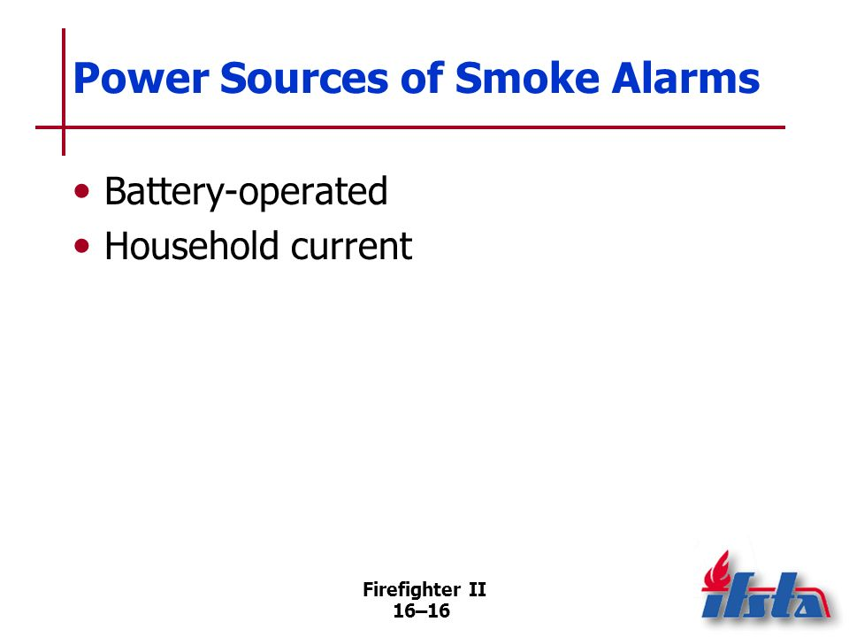 Power Sources of Smoke Alarms