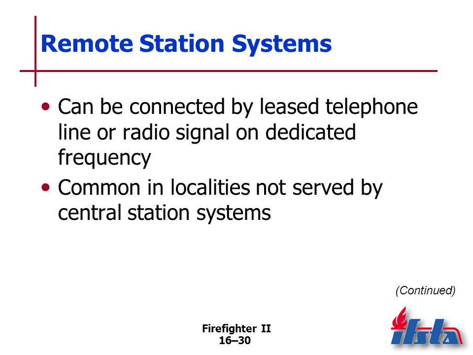 Remote Station Systems