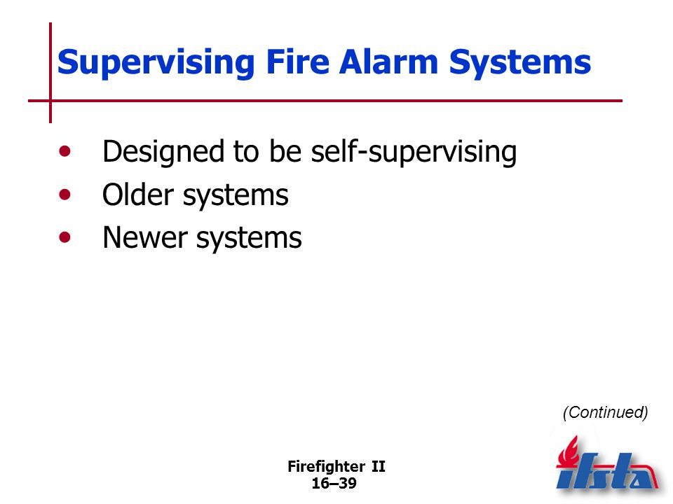 Supervising Fire Alarm Systems