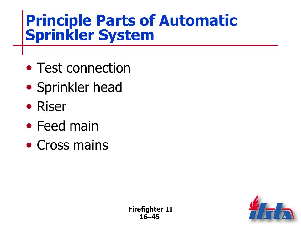 Principle Parts of Automatic Sprinkler System