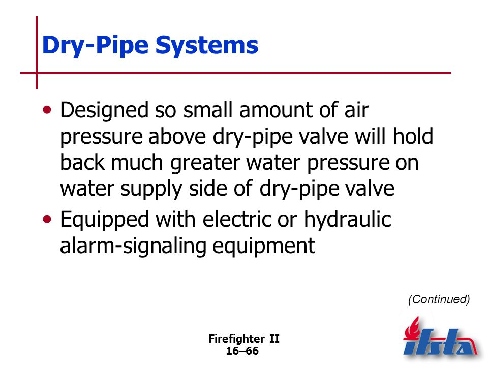 Dry-Pipe Systems