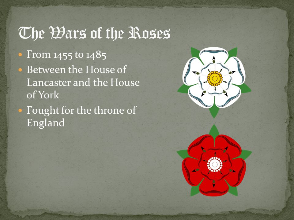 The Wars of the Roses From 1455 to 1485