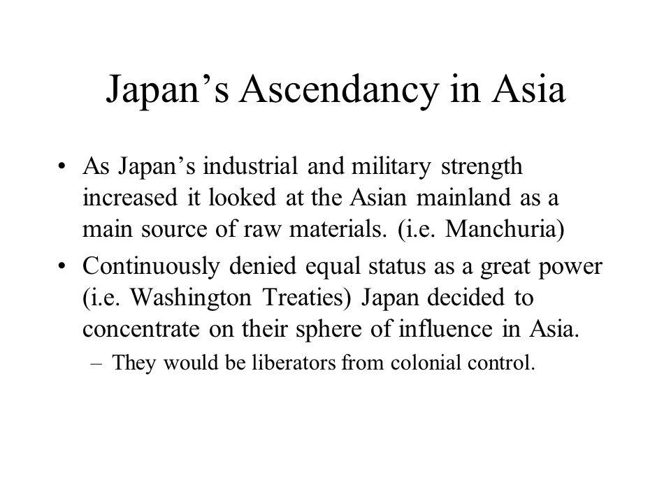 Japan's Ascendancy in Asia