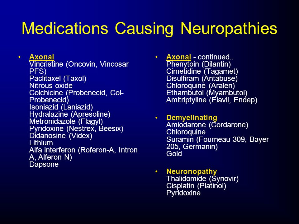 Medications Causing Neuropathies