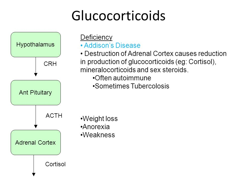 Glucocorticoids Deficiency Addison's Disease