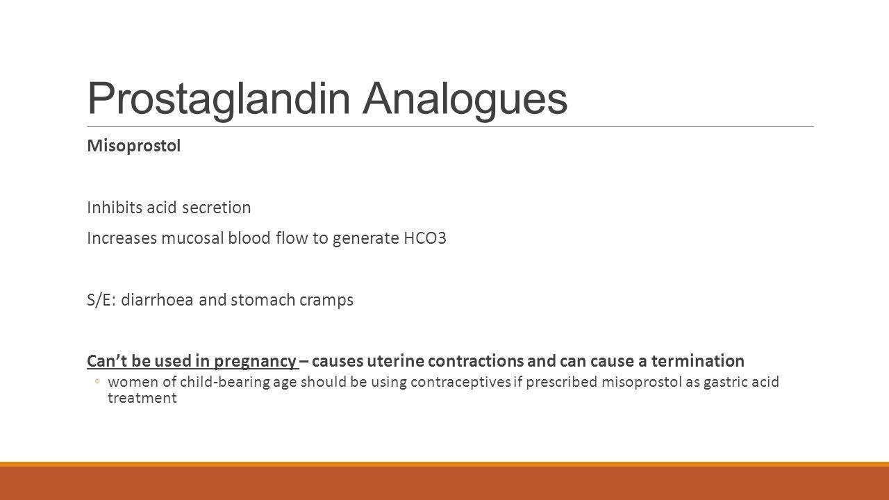 Prostaglandin Analogues
